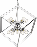 Golden Lighting 2083-10P-CH Architect Modern Chrome Pendant Lighting