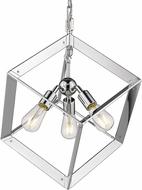 Golden Lighting 2083-3P-CH Architect Contemporary Chrome Pendant Light