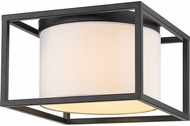 Golden Lighting 2243-FM-BLK-MWS Manhattan Contemporary Matte Black Flush Ceiling Light Fixture