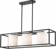 Golden Lighting 2243-LP-BLK-MWS Manhattan Modern Matte Black Kitchen Island Light
