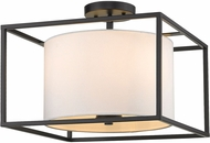 Golden Lighting 2243-SF-BLK-MWS Manhattan Modern Matte Black Flush Mount Ceiling Light Fixture