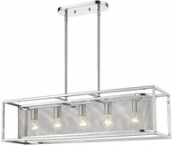 Golden Lighting 2245-5SF-CH-CH London Modern Chrome Island Light Fixture