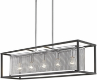 Golden Lighting 2245-LP-CH-BLK London Modern Chrome Island Lighting