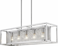 Golden Lighting 2245-LP-CH-CH London Contemporary Chrome Kitchen Island Lighting