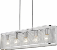 Golden Lighting 2245-LP-CH London Contemporary Chrome Kitchen Island Light Fixture