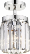 Golden Lighting 2247-1SF-CH Paris Modern Chrome Flush Lighting