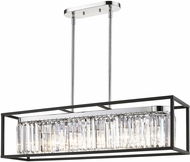 Golden Lighting 2247-LP-CH-BLK Paris Contemporary Chrome Island Light Fixture