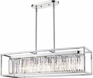 Golden Lighting 2247-LP-CH-CH Paris Modern Chrome Kitchen Island Light Fixture