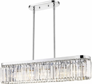 Golden Lighting 2247-LP-CH Paris Modern Chrome Kitchen Island Light
