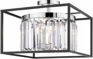 Golden Lighting 2247-SF-CH-BLK Paris Contemporary Chrome Home Ceiling Lighting