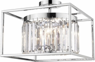 Golden Lighting 2247-SF-CH-CH Paris Modern Chrome Overhead Light Fixture
