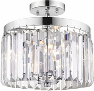 Golden Lighting 2247-SF-CH Paris Modern Chrome Flush Mount Ceiling Light Fixture