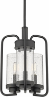 Golden Lighting 2380-3P-BLK-SD Holden Modern Black Foyer Light Fixture