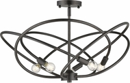 Golden Lighting 2618-5SF-EB Cosmic Modern Etruscan Bronze Ceiling Light Fixture