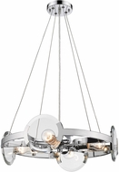 Golden Lighting 2635-4-CH-CH Amari Contemporary Chrome Mini Chandelier Lamp