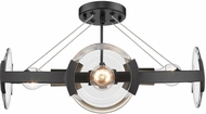 Golden Lighting 2635-4SF-BLK-AB Amari Contemporary Black Ceiling Lighting Fixture