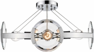 Golden Lighting 2635-4SF-CH-CH Amari Modern Chrome Ceiling Light Fixture