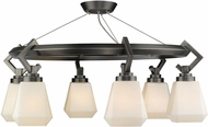 Golden Lighting 2712-6SF-AS-OP Hollis Modern Aged Steel Flush Mount Light Fixture