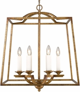 Golden Lighting 3072-6P-GG Athena Modern Grecian Gold Entryway Light Fixture