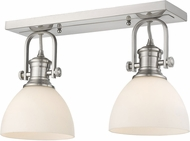 Golden Lighting 3118-2SF-PW-OP Hines Contemporary Pewter 2-Light Flush Lighting