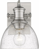 Golden Lighting 3118-BA1-PW-SD Hines Contemporary Pewter Wall Lamp