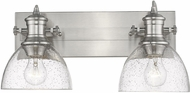 Golden Lighting 3118-BA2-PW-SD Hines Modern Pewter 2-Light Vanity Lighting