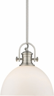 Golden Lighting 3118-L-PW-OP Hines Contemporary Pewter Pendant Light Fixture