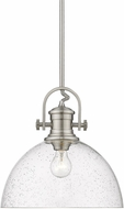 Golden Lighting 3118-L-PW-SD Hines Modern Pewter Pendant Lighting Fixture