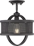 Golden Lighting 3167-1SF-BLK-BLK Colson Contemporary Matte Black Overhead Lighting