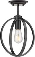 Golden Lighting 3167-1SF-BLK Colson Modern Matte Black Flush Mount Lighting