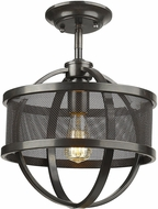 Golden Lighting 3167-1SF-EB-EB Colson Contemporary Etruscan Bronze Flush Mount Lighting Fixture