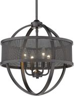 Golden Lighting 3167-4P-BLK-BLK Colson Modern Matte Black Mini Chandelier Lighting