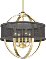 Golden Lighting 3167-4P-OG-BLK Colson Modern Olympic Gold Mini Chandelier Light