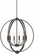 Golden Lighting 3167-6-EB Colson EB Contemporary Etruscan Bronze Ceiling Chandelier