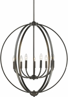Golden Lighting 3167-9-EB Colson EB Contemporary Etruscan Bronze Lighting Chandelier
