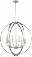 Golden Lighting 3167-9-PW Colson PW Contemporary Pewter Chandelier Light