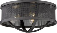 Golden Lighting 3167-FM15-BLK-BLK Colson Contemporary Matte Black Overhead Lighting Fixture