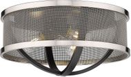 Golden Lighting 3167-FM15-BLK-PW Colson Modern Matte Black Ceiling Lighting