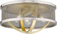 Golden Lighting 3167-FM15-OG-PW Colson Contemporary Olympic Gold Ceiling Lighting Fixture