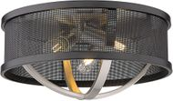 Golden Lighting 3167-FM15-PW-BLK Colson Contemporary Pewter Ceiling Light Fixture