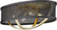 Golden Lighting 3167-FM24-OG-BLK Colson Contemporary Olympic Gold Flush Mount Lighting Fixture