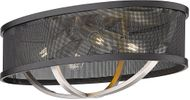 Golden Lighting 3167-FM24-PW-BLK Colson Contemporary Pewter Flush Mount Ceiling Light Fixture