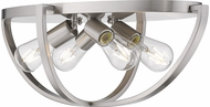 Golden Lighting 3167-FM24-PW Colson Contemporary Pewter Ceiling Lighting