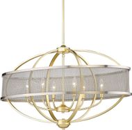 Golden Lighting 3167-LP-OG-PW Colson Contemporary Olympic Gold Kitchen Island Light