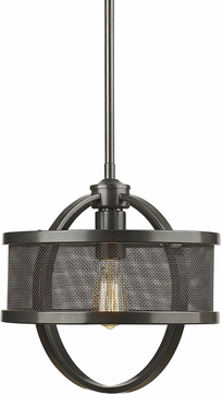 Golden Lighting 3167-M1L-EB-EB Colson EB Contemporary Etruscan Bronze Mini Hanging Light
