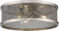 Golden Lighting 3168-FM15-PW-PW Channing Contemporary Pewter 15 Overhead Lighting