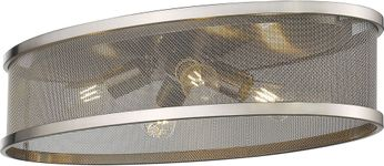 Golden Lighting 3168-FM24-PW-PW Channing Modern Pewter Flush Mount Lighting Fixture