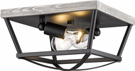Golden Lighting 3184-FM-NB-GH Teagan Natural Black Overhead Lighting Fixture