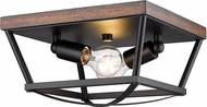 Golden Lighting 3184-FM-NB-RO Teagan Natural Black Ceiling Lighting