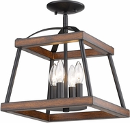 Golden Lighting 3184-SF-NB-RO Teagan Natural Black Ceiling Light Fixture